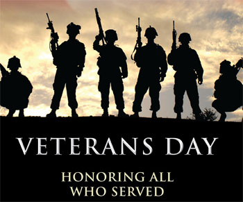 The Center will be closed on Monday, November 11, 2013.