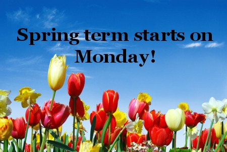 Spring Term Starts March 31 at the Center